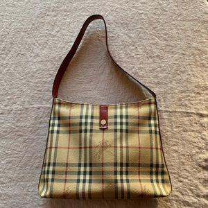 Burberry Check Leather Shoulder Bag